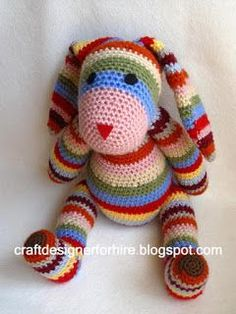 Craft Designer for Hire: Free Crochet Striped Rabbit Pattern