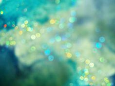 Sea Green Sparkle Bokeh
