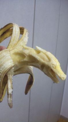 Banana Carvings - wow.