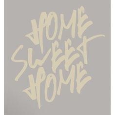 SweetumsWallDecals Home Sweet Home Wall Decal Color: