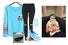 """""""Home Movie Date With Michael"""" by tracey-thompson-1 ❤ liked on Polyvore featuring Topshop, Casetify and Vans"""