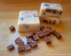 My homemade vanilla and chocolate soap smells good enough to eat, its a must for all chocolate cookie lovers.