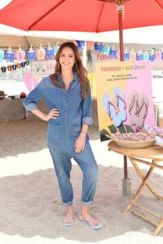 Jessica Alba, Denim Professional, Just Took the Her Love of Jumpsuits to a New Level