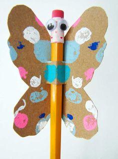 mariposa butterfly lápiz pencil diy niños kids children miraquechulo