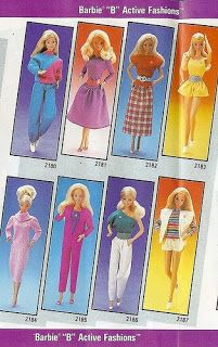 Barbie Doll and Friends: A Collector from Down Under: From the Fashion Vault: 1985 'B' Active Fashions