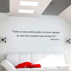 Adesivo de Frase Esteja Disposto A Arriscar, é um adesivo decorativo de frase. Frase motivadora para você ter em uma parede, pode ser ela do quarto, da s...