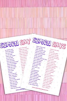 Games For Little Kids, Word Games For Kids, Group Games For Kids, Respect Activities, Autism Activities, Games For Kids Classroom, Classroom Activities, Simon Says Game, Homework Center