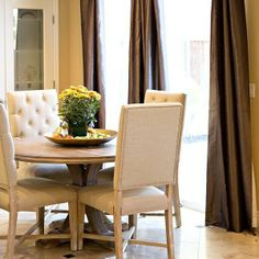 Z Gallerie Archer Round Dining Table and Rencourt Side Chairs.