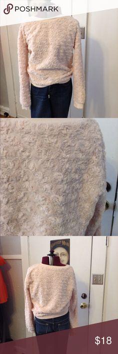 Pink rose textured sweatshirt Pink rose textured sweatshirt Tobi Tops Sweatshirts & Hoodies
