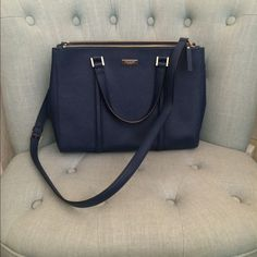 Kate Spade Newbury Lane. Navy Small Loden. Navy blue bag. Crossbody strap. Clean like new. kate spade Bags