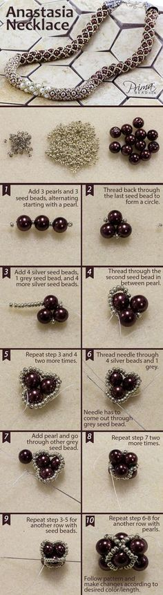 Master this filled tubular netting technique and see our full collection of bead weaving patterns! #DIY #jewelry #beads #beadweaving #seedbeads #project. Uses 6mm pearls and 11/0 seed beads