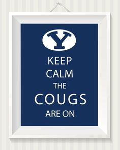 BYU & Utah College Football Keep Calm 8x10 Digital by simpdesigned