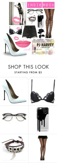 """Lick My Legs ~ Indie Rock (Group Contest)"" by misartes ❤ liked on Polyvore featuring The Highest Heel, La Perla, Casetify, Trend Cool, Alexander Wang, Anastasia Beverly Hills, groupcontest, IndieRock and PJHarvey"