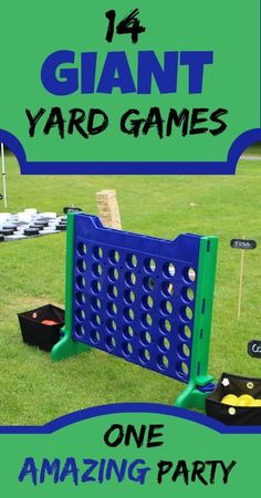 DIY 14 Giant Yard Games for one amazing party