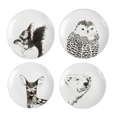 Anouk Kramer is making handmade tableware Edges, Gold, and Color. The Bespoke personalized plates. Set Assiette, Assiette Design, Animal Plates, Sharpie Paint, Motifs Animal, Personalized Plates, Encaustic Art, Condo Decorating, Plate Design