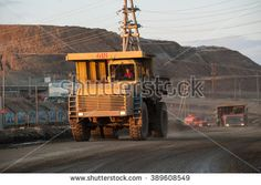 Yakutia Russia April 21 2015 Large Trucks Take Out The Ground With Diamond Pipes In The Processing Enterprises In The City Mirny