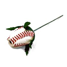 Baseball Rose Corsage Stem -- Sports Roses Online Store
