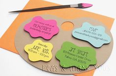 Signature Artist's Palette Birthday by peasandthankyous on Etsy