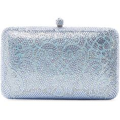 Sylvia Toledano Lace Minaudière (60.145 RUB) ❤ liked on Polyvore featuring bags, handbags, clutches, blue, blue clutches, chain strap handbag, blue handbags, lace clutches and lace purse