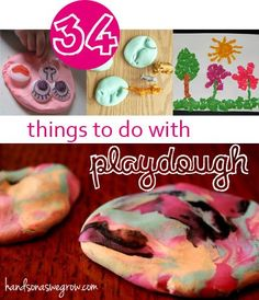 Playdough is great for fine motor skills - 34 Things to Make & Do with Playdough