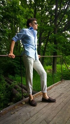 Boat shoes and casual style.