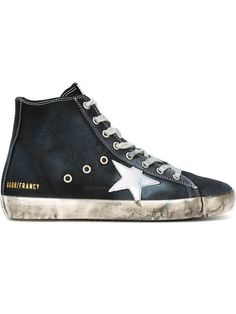 GOLDEN GOOSE 'Francy' Hi-Top Sneakers. #goldengoose #shoes #sneakers