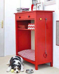 Hermosa cucha para tu perro,con lugar para guardar accesorios de tu mejor amigo!!
