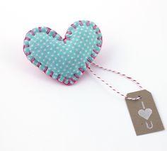 Blue Heart Embellishment