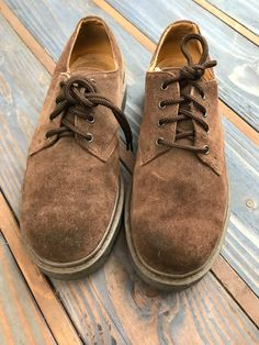 840544f272 Skechers Men's Chocolate Brown Suede Shoe Size 9D Vintage Doc Martens  Boots, Suede Shoes,