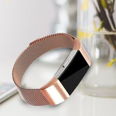Fitbit Charge 2 Bands, Vancle Adjustable Milanese Loop Stainless Steel Metal Band Bracelet Strap with Magnetic Closure Clasp, No Buckle Needed for Fit Bit Charge 2 HR Fitness Tracker (Rose Gold, Small), Activity Trackers - Amazon Canada Fit Bit Charge 2, Charge 2 Bands, Stainless Steel Metal, Fitness Tracker, Metal Bands, Fitbit, Canada, Rose Gold, Closure