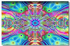 "AmazonSmile: 1x Poster Psychedelic Trippy Colorful Ttrippy Surreal Abstract Astral Digital Art Office Home Room Wall Deco 47x31.5"" (120x80cm) (002): Posters & Prints"