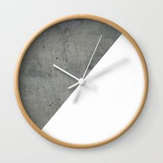 Concrete Vs White Wall Clock