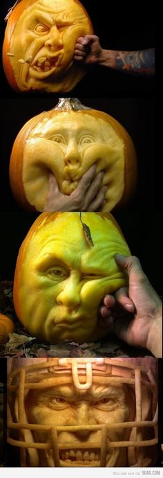 Amazing pumpkin carving