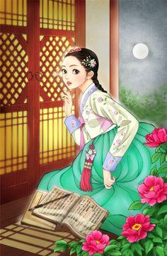 Korean Anime, Korean Art, Asian Art, Korean Illustration, Illustration Art, Korean Painting, Tumblr Art, Beautiful Anime Girl, Anime Art Girl