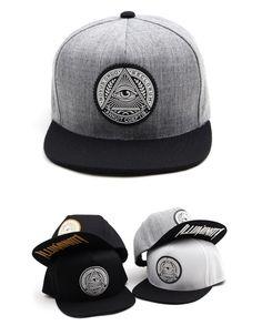 ba7bb47bfe66b Circle ILLUMINATI custom lettering snapback hat Hiphop flat baseball cap 4  color  Hoonyz  snapback