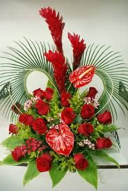Discover thousands of images about Susijęs vaizdas Valentine Flower Arrangements, Funeral Floral Arrangements, Tropical Flower Arrangements, Creative Flower Arrangements, Church Flower Arrangements, Beautiful Flower Arrangements, Unique Flowers, Beautiful Rose Flowers, Flower Centerpieces