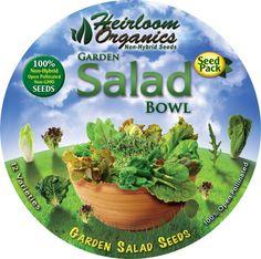 Front label of our Garden Salad Bowl Pack. Garden Salad Bowl Pack $49