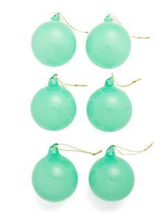 Beautiful Jade glass balls  3 ½ inch six pack.