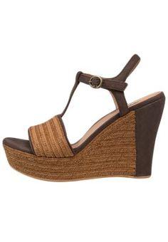 FITCHIE - Sandales compensées - choco