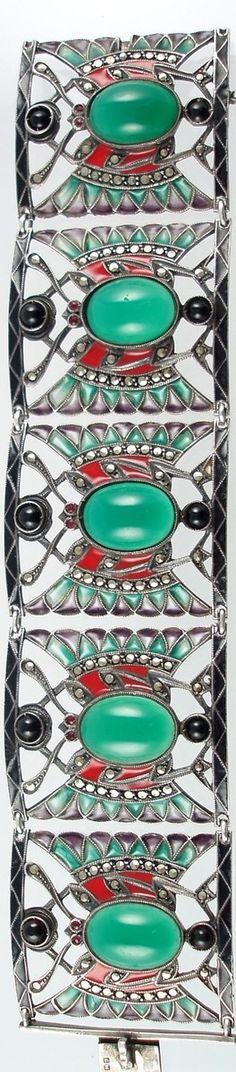 Art Deco Egyptian Revival Bracelet