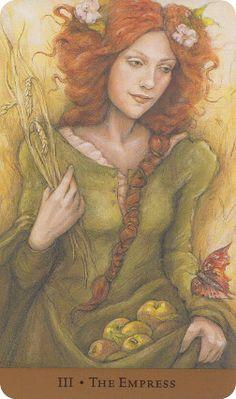Tarot of the Hidden Realm by Barbara Moore & Julia Jeffrey.  Isn't she beautiful?