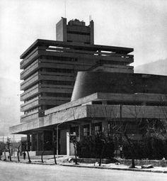 Kure City Hall and Municipal Auditorium, Hiroshima Prefecture, Japan, 1962 (Junzo Sakakura & Associates)