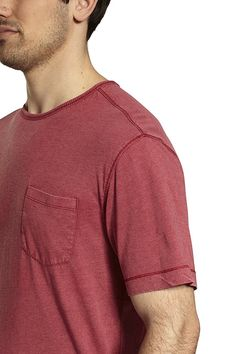 Short Sleeve Cotton/Poly Heather Jersey Crew Neck with pocket. - 100% Cotton - Imported from India - VINTAGE LOOK, UPDATED TRIM STYLE: Take a classic T-shirt, give it a fresh trim cut, give it a weathered appearance chock full of character, throw in a functional chest pocket, and you've got a shirt that's made for your active lifestyle - RUGGED YET REFINED: With a fabric that's a thoughtful blend of 60% cotton blended with 40% polyester, strong overlock stitching at the seams and hems, and… Man Fashion, Fashion Details, Shirt Men, Neck T Shirt, Chock Full, Shorts With Pockets, Vintage Looks, Classic T Shirts, Crew Neck
