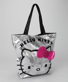 3284f9dfaa Hello Kitty Hello Kitty Silver Disco Tote
