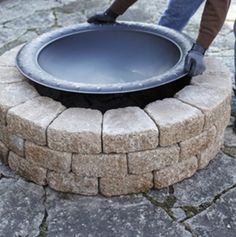 A Quick and Easy Do It Yourself Firepit Surround - Lowe's Creative Ideas