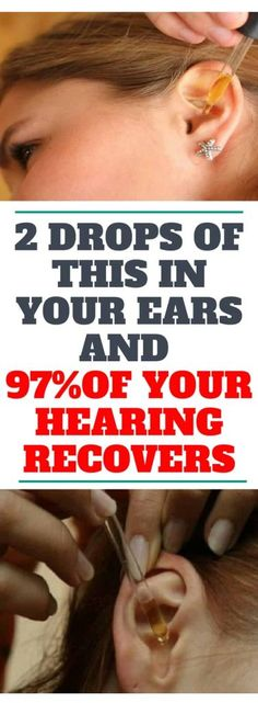 2 DROPS OF THIS IN YOUR EARS AND 97�0OF YOUR HEARING RECOVERS! EVEN OLD PEOPLE FROM 80 TO 90 ARE DRIVEN CRAZY BY THIS SIMPLE AND NATURAL REMEDY!