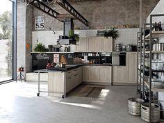 Cucina in stile industriale di design 24