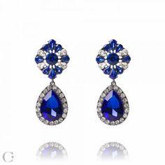 Bijuterii Statement :: Cercei Statement Statement Earrings, Drop Earrings, Sapphire, Jewelry Accessories, Beauty, Beleza, Cosmetology, Chandelier Earrings