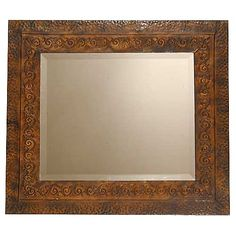 "Jackson Metal Mirror Dimensions: 34""W x 30""H x 1""Ext Style: Rustic/Lodge Weight: 17.0 Lbs Usage:Interior UPC:792977111826 Brand SKU:11182B  $276  Copper or Powder"