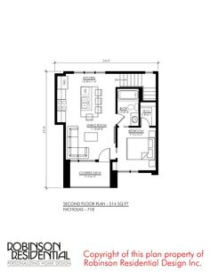 design - modern home for a small family Cottage Floor Plans, Cabin Floor Plans, Bungalow House Plans, Small House Plans, 2bhk House Plan, Family House Plans, Minimalist House Design, Modern House Design, Mother In Law Cottage